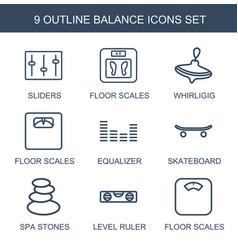 9 balance icons vector image