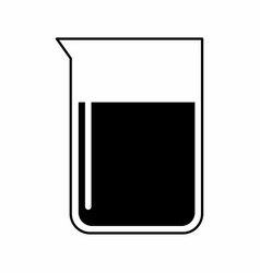 a lab flask vector image