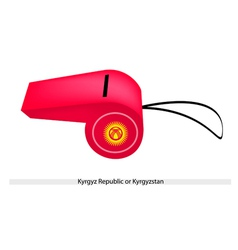 A Red Whistle of The Kyrgyz Republic vector