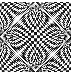 Abstract checkered black white geometric pattern vector