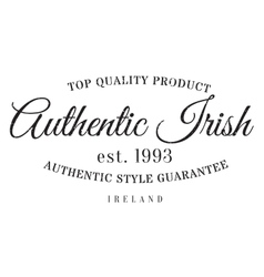 Authentic irish product stamp vector image