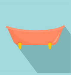 baby bathtube icon flat style vector image