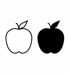 black and white apples vector image