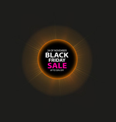 Black friday sale and total solar eclipse poster vector