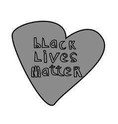 Black lives matter text vintage stop racism vector