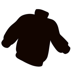 Black silhouette sweater jumper casual clothing vector
