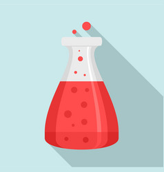 boiling flask icon flat style vector image