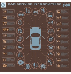 Car service infographics 29 1 vector image
