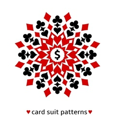 Card suit snowflake ornament vector