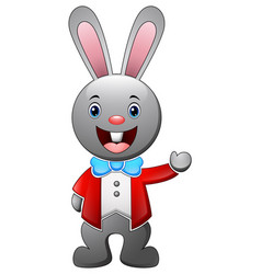 cartoon rabbit wearing a tuxedo vector image