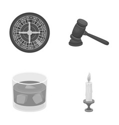 Casino alcohol and other monochrome icon in vector