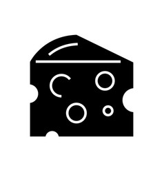 cheese icon black sign on vector image