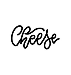 cheese letterinf banner beautiful card linear vector image