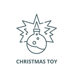 christmas toy line icon christmas toy vector image