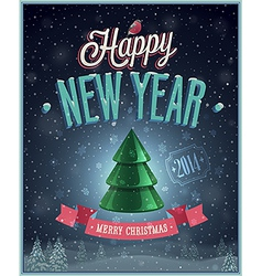 christmas tree poster vector image