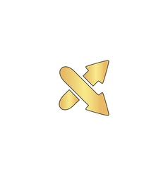 Crossing arrow computer symbol vector