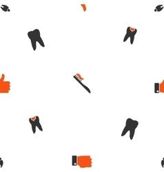 Dentistry Seamless Flat Wallpaper vector