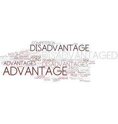 Disadvantaged word cloud concept vector