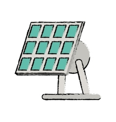Drawn solar panel renewable energy alternative vector
