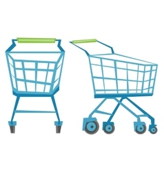 Empty shopping carts vector image