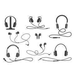 entertainment earphones equipment vector image