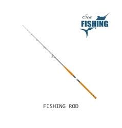 Fishing rod Item of fishing vector