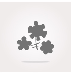 Flower app web glossy icon button Web Icon vector