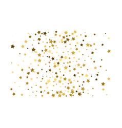 gold stars confetti celebration falling golden vector image