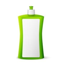 Green blank dish washing liquid package vector