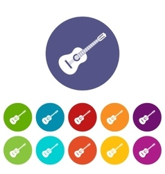 Guitar set icons vector