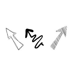hand drawn arrows on a white vector image