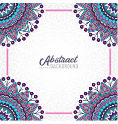 hand-drawn mandala on the watercolor background vector image vector image