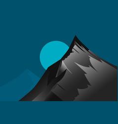 Highest mountain scene vector