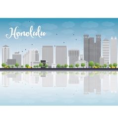 Honolulu Hawaii skyline vector image