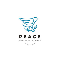 Icon and logo peace and charity editable vector