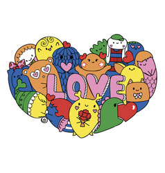love monsters vector image