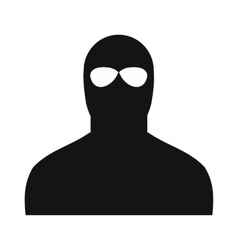 Man in a mask black simple icon vector image