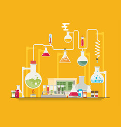 medical laboratory infographics vector image
