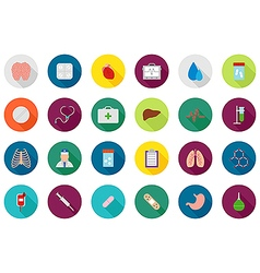 Medicine round icons set vector image