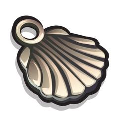 Metal pendant in shape seashells accessory vector