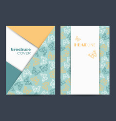 modern templates for brochure cover in a4 vector image