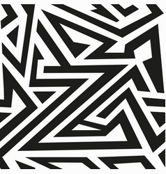 Monochrome labyrinth seamless pattern vector