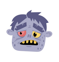 monster head avatar in cartoon style vector image