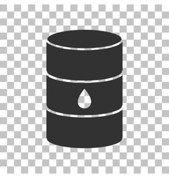 Oil barrel sign dark gray icon on transparent vector
