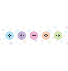 Orientation icons vector