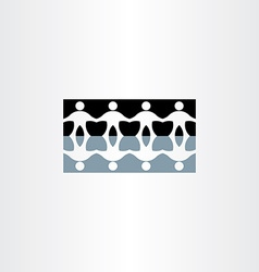 People holding hands reflection icon vector