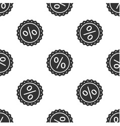 percent symbol discount icon seamless pattern vector image