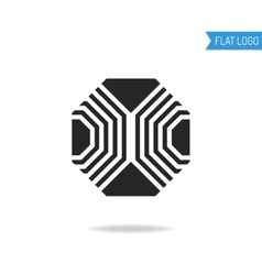 Polygon Business icon technical engineering vector image
