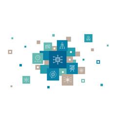 Project management infographic 10 steps pixel vector