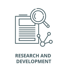 research and development line icon linear vector image